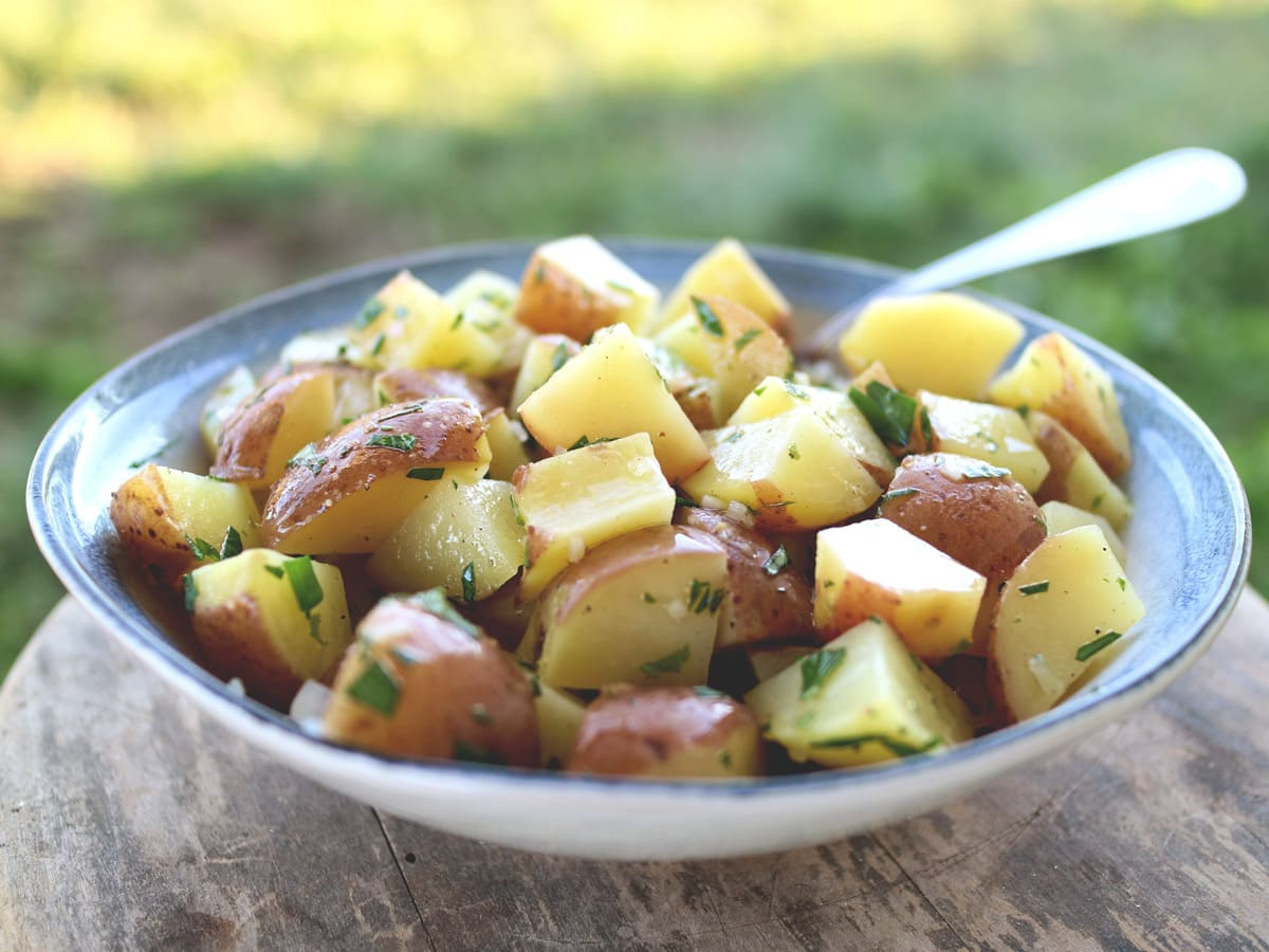 Herbed Lemon Potato Salad is a fresh and flavorful twist on a summer classic.