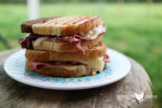 How to make Reuben Paninis - Get the Recipe from Cosmopolitan Cornbread