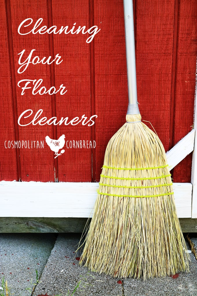 Even things that we use to clean the floors with, need to be cleaned once in a while. The vacuum, the carpet shampooer, the brooms, dustpans and mops.