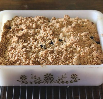 Old-Fashioned Blueberry Cornbread Cake