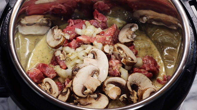 Instant Pot Beef Stroganoff from Cosmopolitan Cornbread