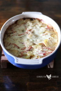 Creamy, buttery scalloped potatoes dotted with flavorful ham. This dish is the definition of comfort food. Get the recipe for Scalloped Potatoes and Ham from Cosmopolitan Cornbread