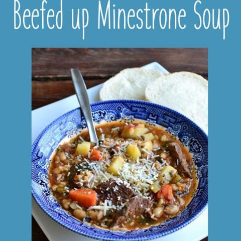 Not-So-Mini-Strone - Hearty Minestrone Soup
