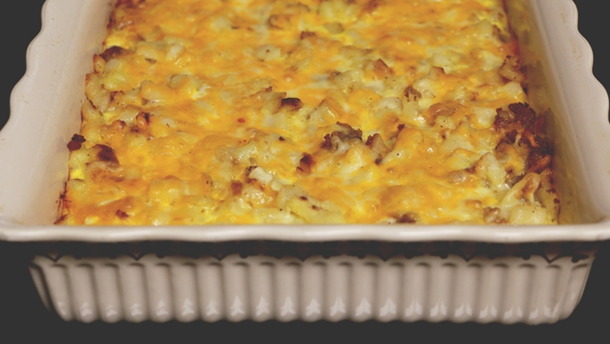 Sausage & Hash Brown Breakfast Casserole | A hearty and delicious dish you can even make head! Get the recipe from Cosmopolitan Cornbread