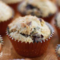 Coffee Shop Style Chocolate Chip Muffins