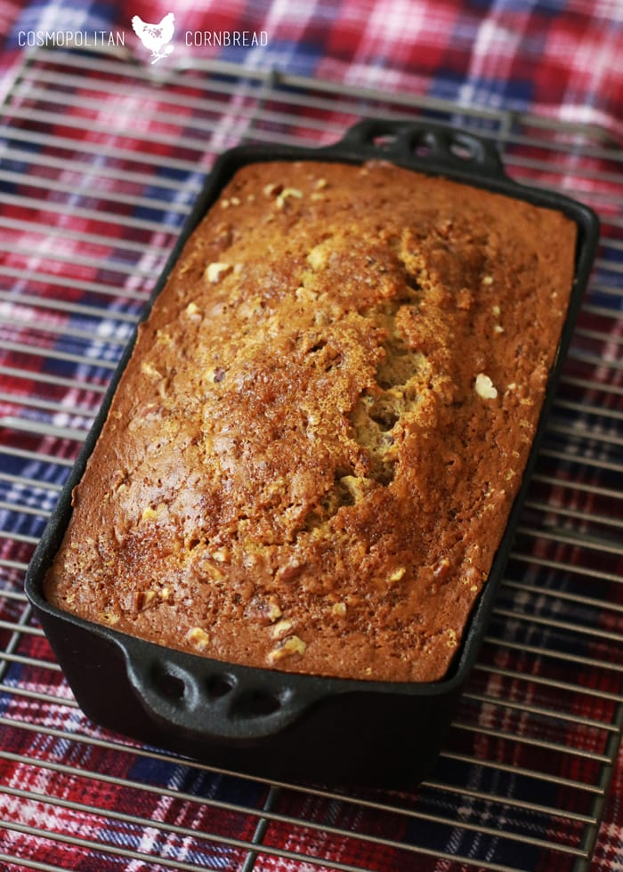 The Best Banana Bread | Moist and flavorful banana bread with toasted pecans. Get this delicious recipe from Cosmopolitan Cornbread.