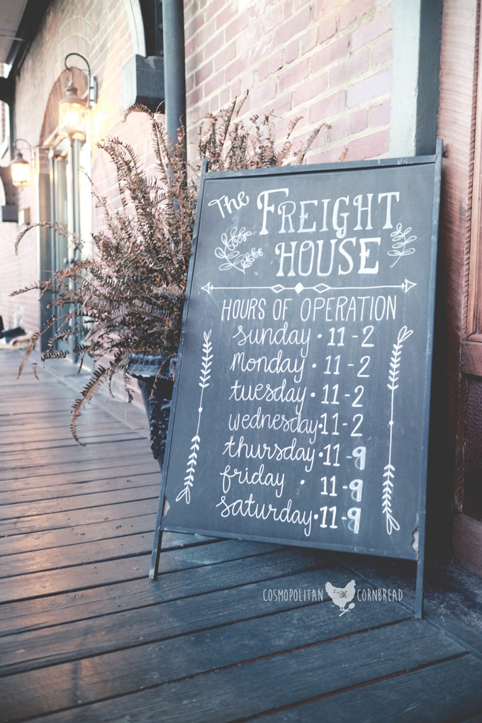 The Freight House - An historic restaurant in Hartselle, Alabama. | Cosmopolitan Cornbread