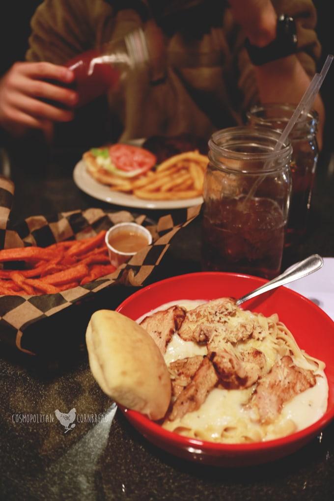 The Freight House - An historic restaurant in Hartselle, Alabama.   Cosmopolitan Cornbread