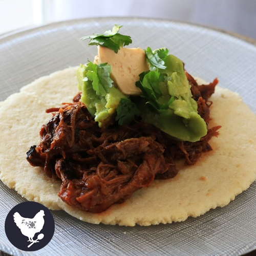 Inspired by Chipotle restaurants, you can enjoy Barbacoa Tacos made right in your Instant Pot or other electric pressure cooker. | Cosmopolitan Cornbread