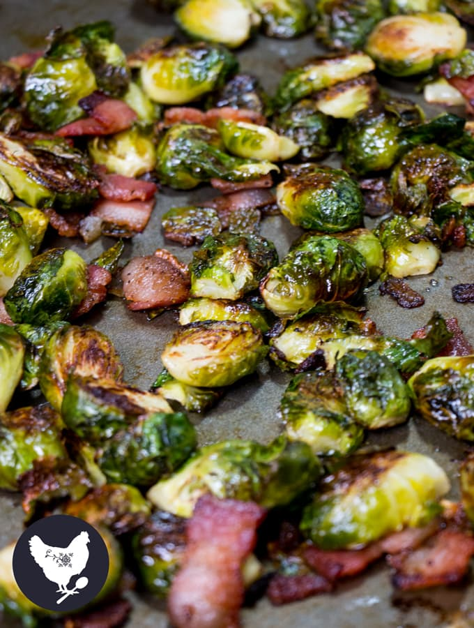 Roasted Brussels Sprouts with Bacon   I'll be honest, I never used to like Brussels sprouts. But after learning of a few new ways to make them, I don't like them - I love them! You'll love this version of them as well, I am certain. Get the recipe from Cosmopolitan Cornbread
