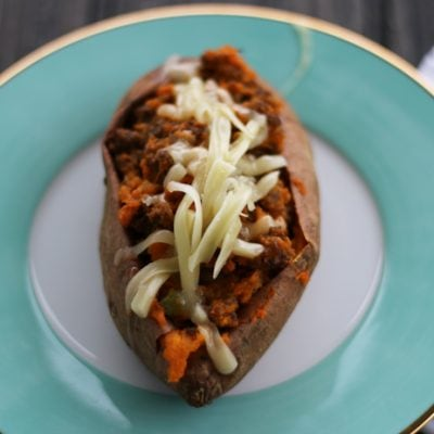South Western Twice-Baked Sweet Potatoes   Low-Carb