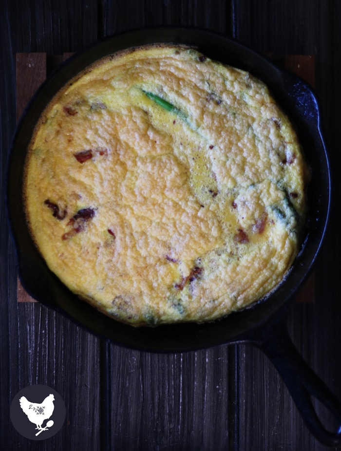 This is a delicious meal with eggs, crispy bacon and flavorful asparagus, and it's all made right in one skillet. It is simple to make and clean-up is a breeze. Get the recipe from Cosmopolitan Cornbread.