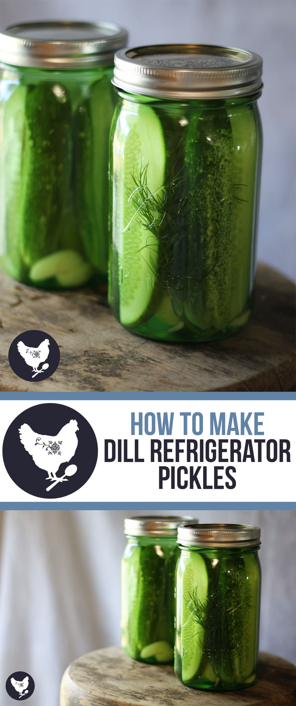 How to Make Dill Refrigerator Pickles - and easy way to enjoy your fresh garden cucumbers! | Get the recipe from Cosmopolitan Cornbread