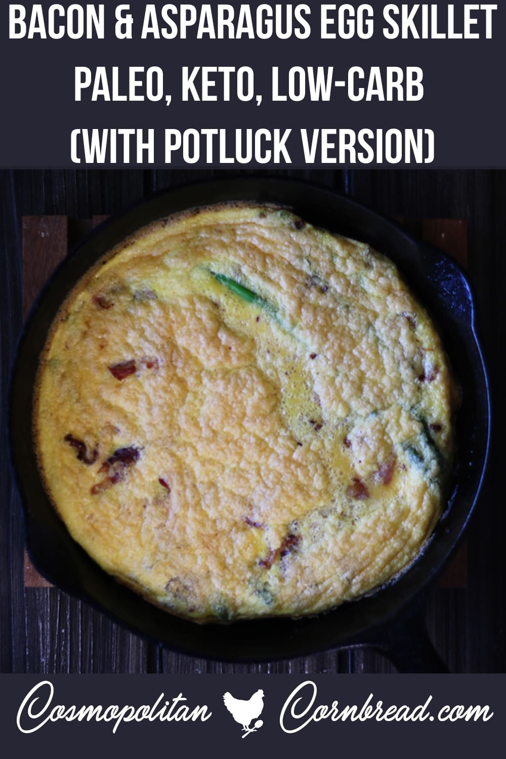 Bacon & Asparagus Egg Skillet   Paleo, Keto, Low-Carb (With Potluck Version)