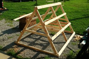 "How to Build an A Frame Chicken Coop | The Movable ""Chicken Sled"" - Free Plans from Cosmopolitan Cornbread"