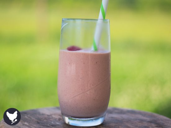 """PB & J Smoothie - A fun and delicious smoothie with the nostalgic flavor of a classic """"PB & J"""" sandwich."""