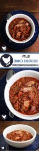 Smoked paprika and bacon lend a beautiful flavorfulness to this thick and rich PALEO Smokey Bacon Chili. Get the recipe from Cosmopolitan Cornbread.
