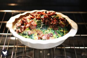 Sweet Potato Quiche with Bacon and Spinach - This recipe is also low-carb and paleo-friendly as well as delicious!