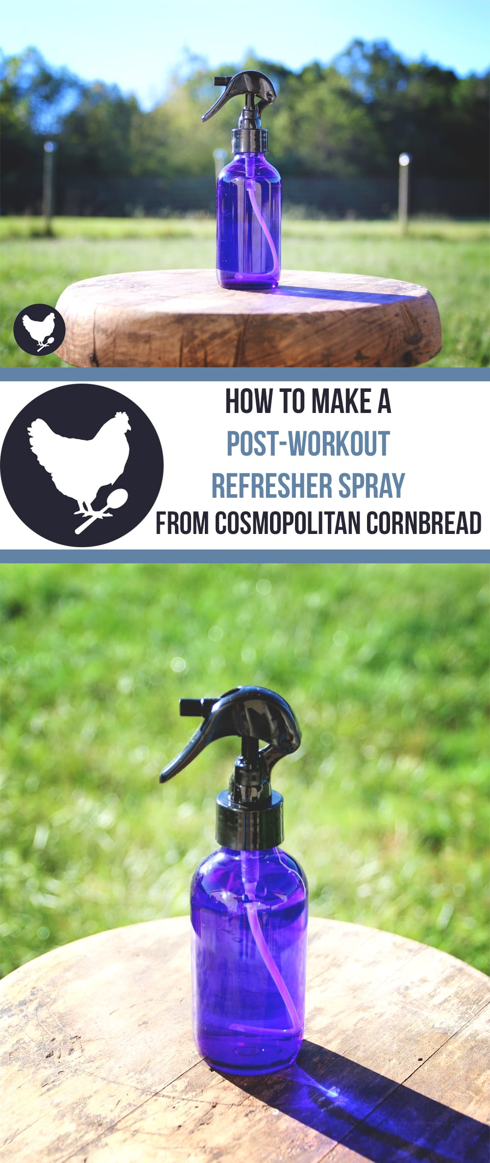 Refresh your skin with this natural, homemade spray. Great for after a workout, or a hot day in the sun! Find out how to make it from Cosmopolitan Cornbread.