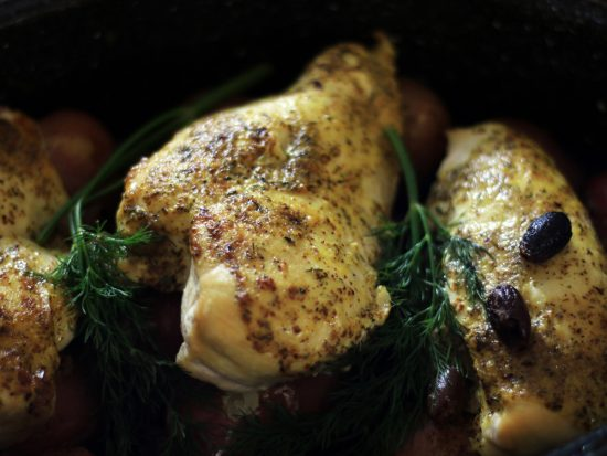 Baked Chicken with Lemon & Dill - a PALEO recipe from Cosmopolitan Cornbread