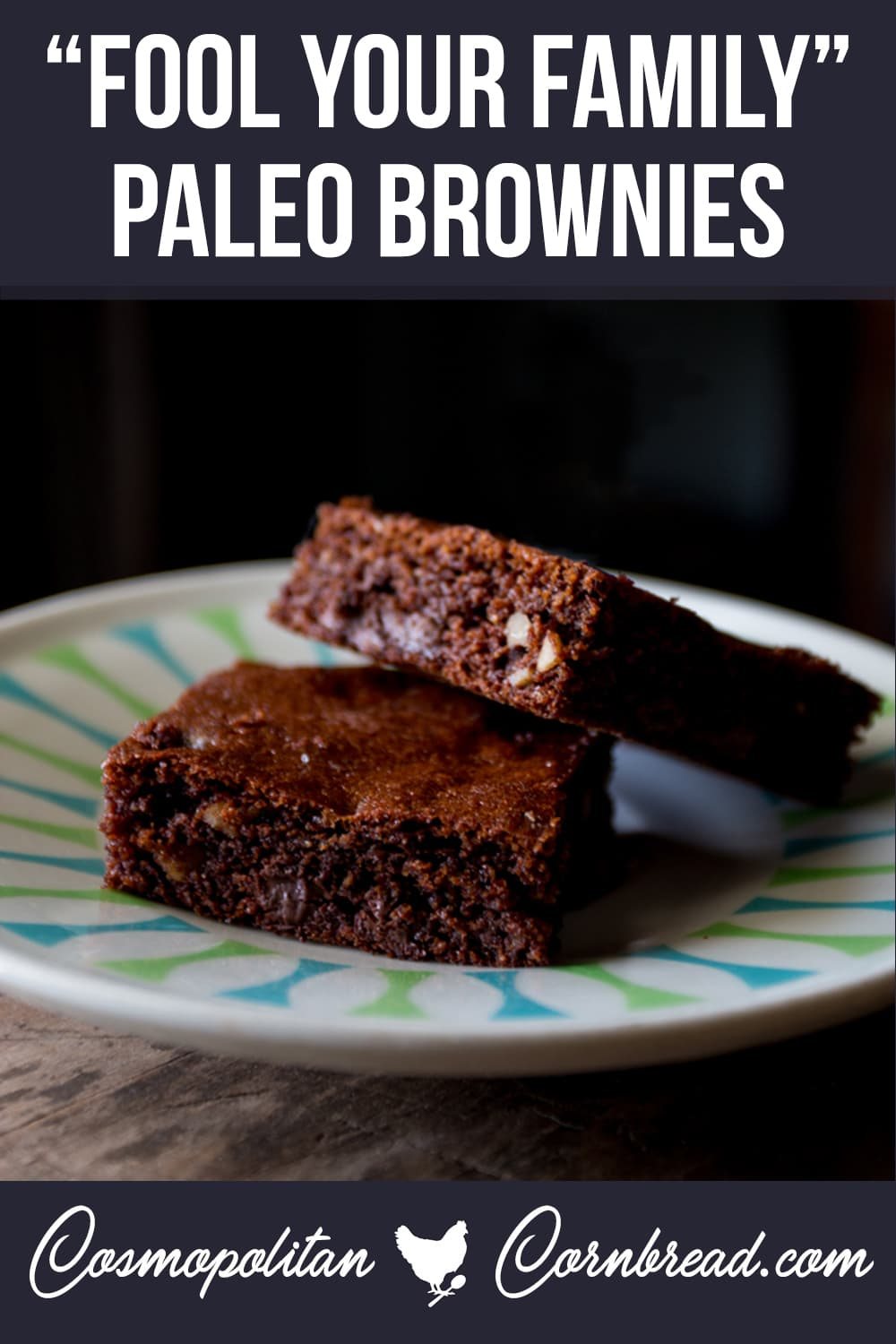 "These PALEO brownies are so good, you will absolutely fool your friends and family into thinking that you accidentally made ""regular"" brownies. There's no mistaking how good these are."