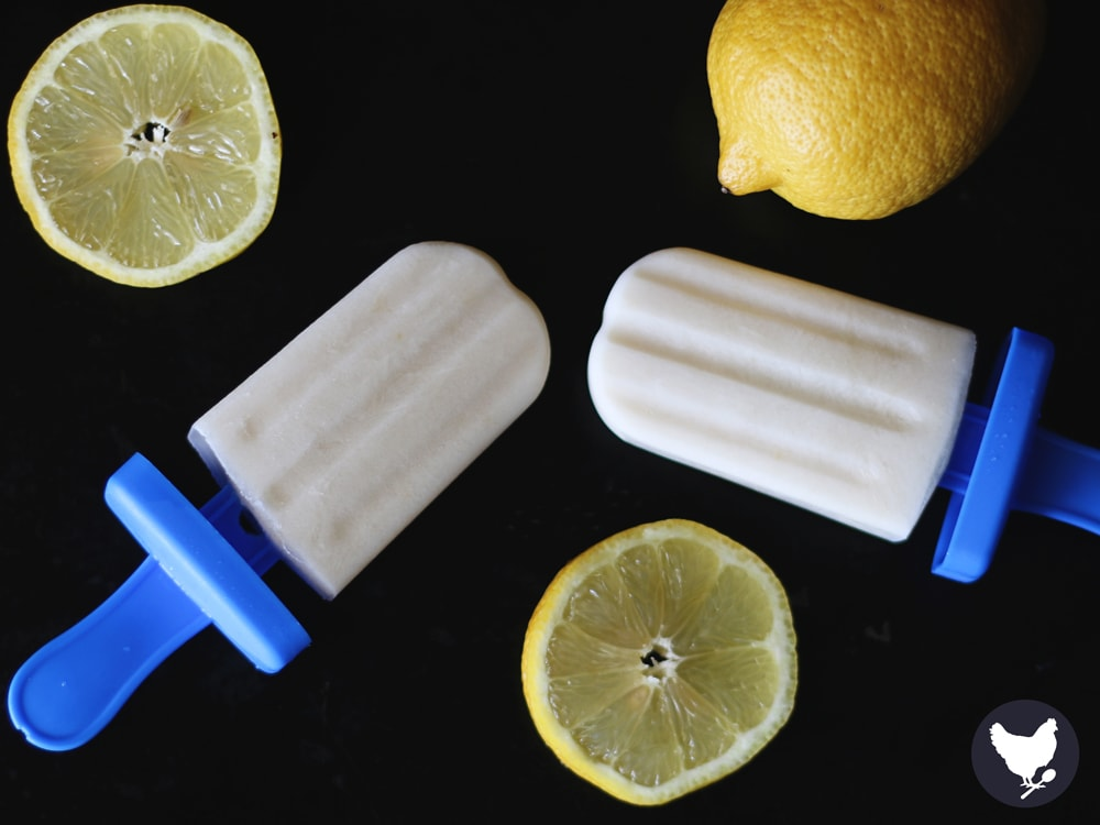Paleo Lemon Cream Pops - Treat yourself with these scrumptiously creamy lemon pops, sweetened with a touch of honey.