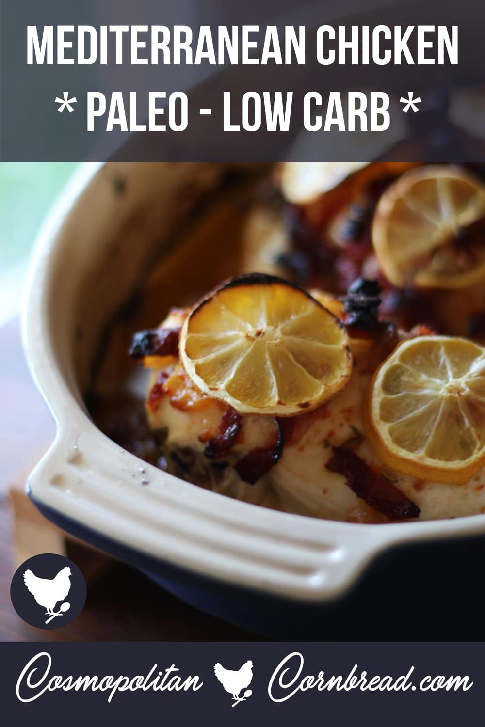 This Paleo Mediterranean Chicken with sun-dried tomatoes and fresh herbs is filled with amazing flavor.