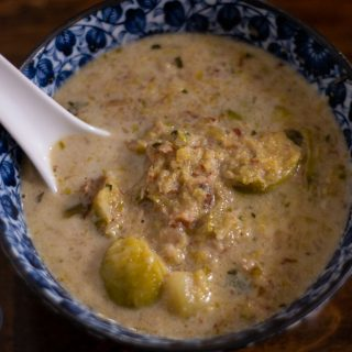 German Brussels Sprouts Soup is a quick and easy soup dotted with bacon and filled with great flavor. It may not be pretty to look at, but you'll love how it tastes! Get the recipe from Cosmopolitan Cornbread.