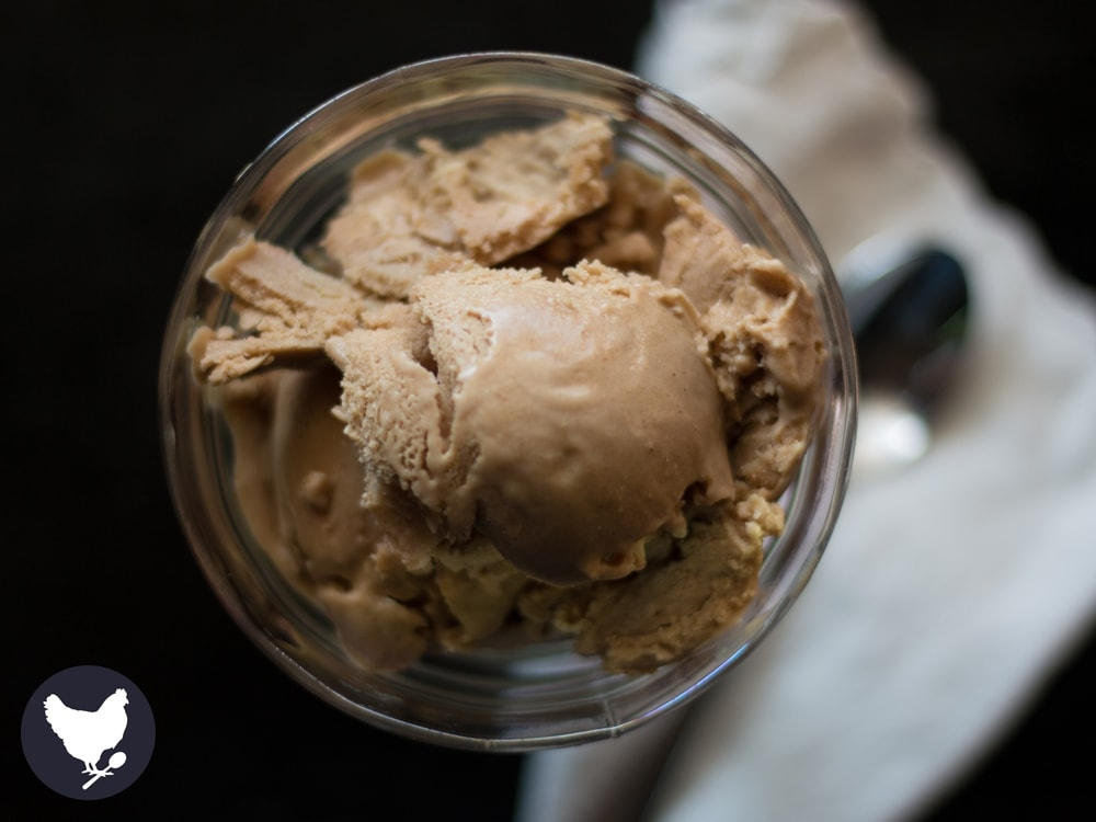 Paleo Coffee Ice Cream is low-carb, dairy-free and guilt free! Get the recipe from Cosmopolitan Cornbread.