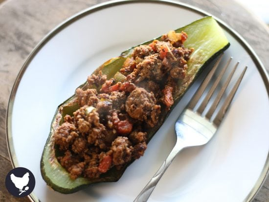 These super easy, low-carb Taco Stuffed Zucchini Boats give you all the flavor of tacos but without the carbs. Paleo, Keto and Whole 30 friendly!