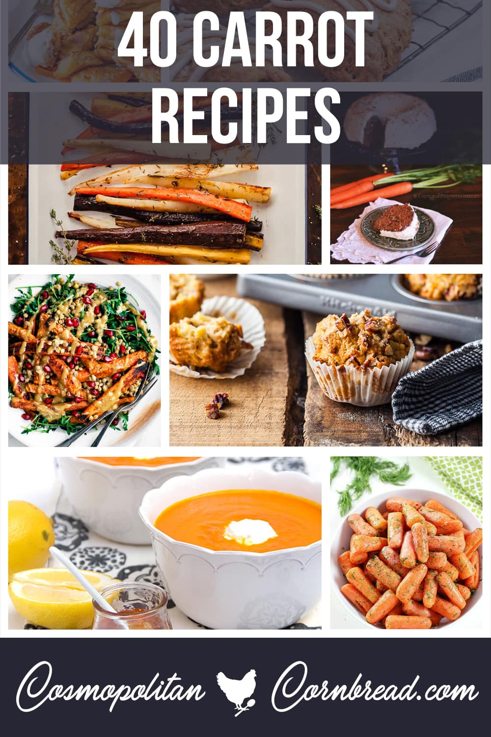 Carrots are equally tasty whether they are in a sweet dessert or a savory dish. Use them every way you can think of with 40 great carrot recipes.