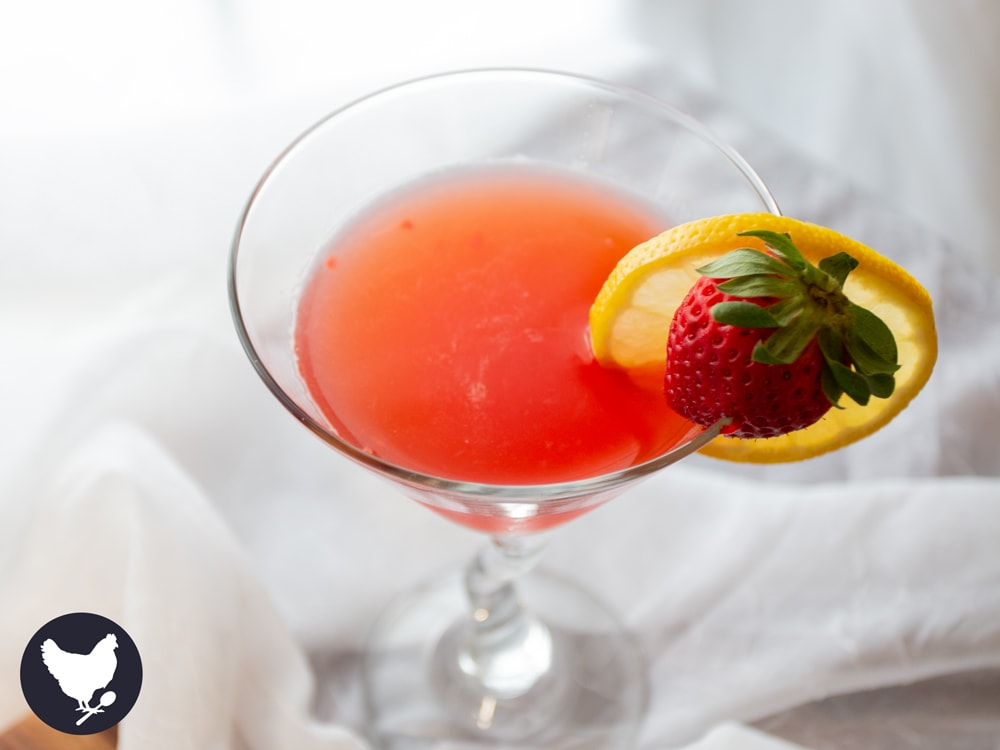 Strawberry Lemonade Martini