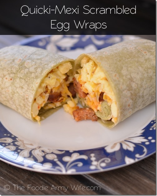 Quicki-Mexi Scrambled Egg Wraps