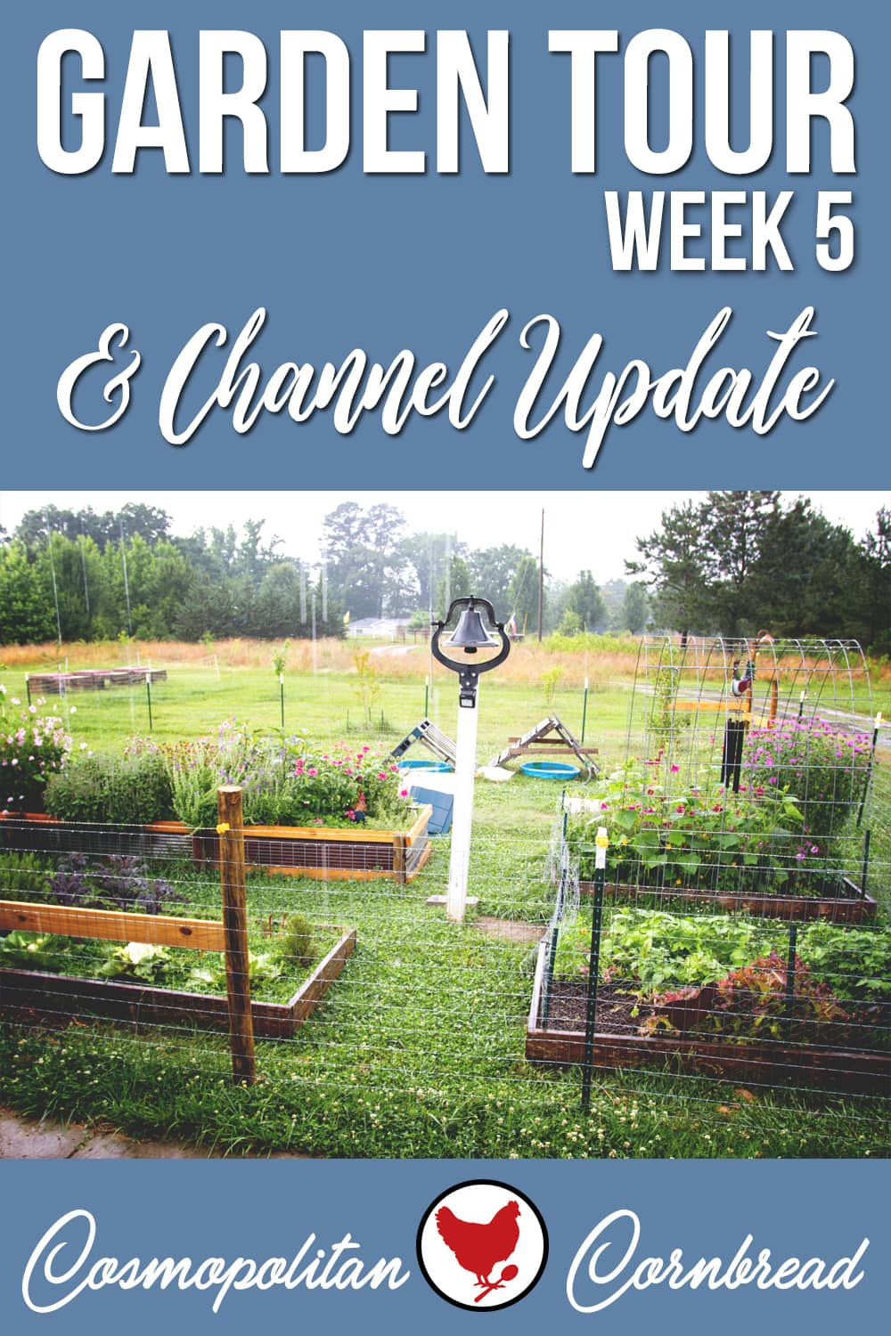 In this episode, we had the weekly garden tour that was squeezed in between rain showers. Some visitors came to the homestead, and I've made a minor change to the YouTube channel.