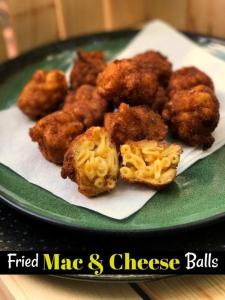 Fried Mac & Cheese Balls from Aunt Bee's Recipes