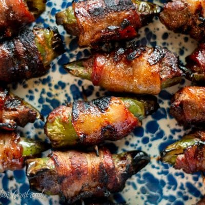 Maple Glazed Grilled Bacon Jalapeno Poppers