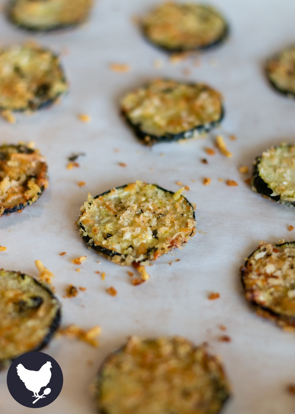Zucchini Chips are simple to make and oh so good! You can serve these as a side dish, a healthy appetizer or even as a great snack!