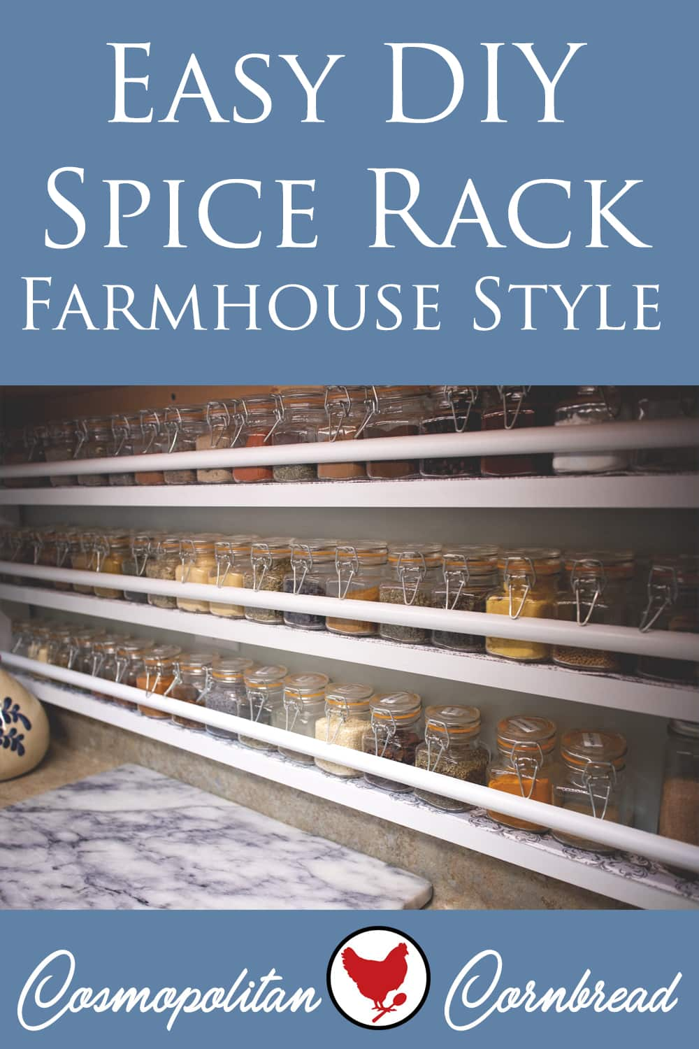 How to Make an Easy DIY Spice Rack - Farmhouse Style