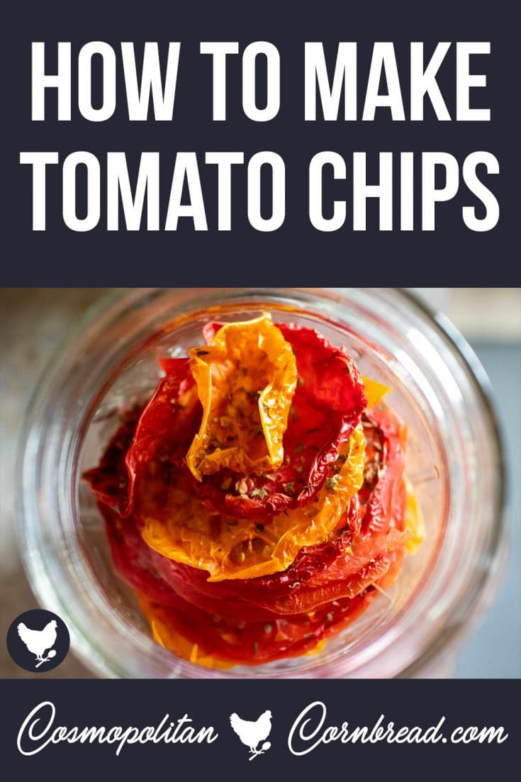 Tomato Chips are something I have been making for years. They are simple to make, and slam packed full of flavor. You will love this delicious and healthy snack!