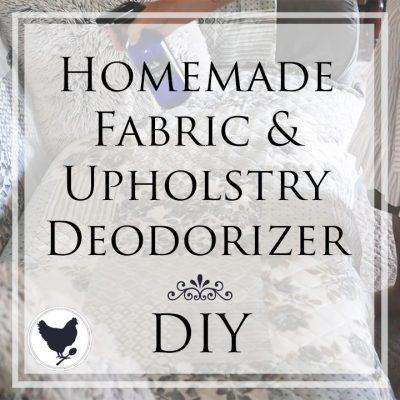 How to Make Homemade Fabric & Upholstery Deodorizing Spray