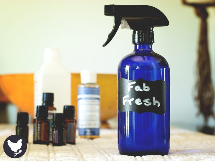 Store bought deodorizing spray for fabrics, upholstery and rugs is filled with questionable ingredients. Make your own spray with just a few simple and natural ingredients.