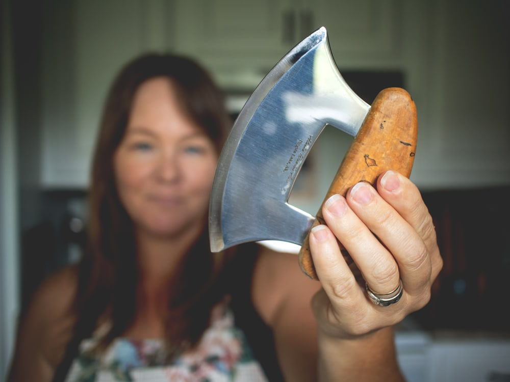 Several of you have recently asked about the knives...the unusual knives that you see in my kitchen. So I thought I would take a few minutes to explain what exactly they are.