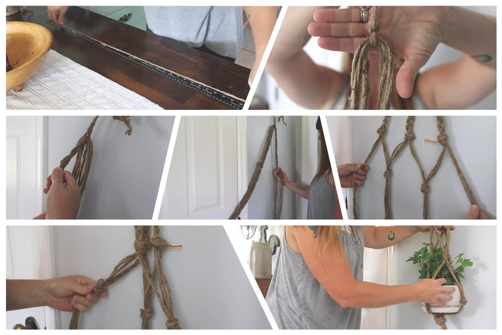 How to Make an Easy DIY Plant Hanger   Farmhouse style #natural