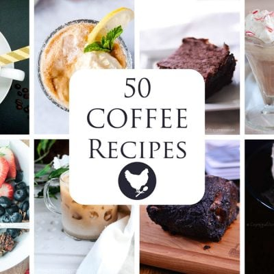 Fifty Coffee Recipes, from coffee drinks and cocktails to desserts and even entrees.