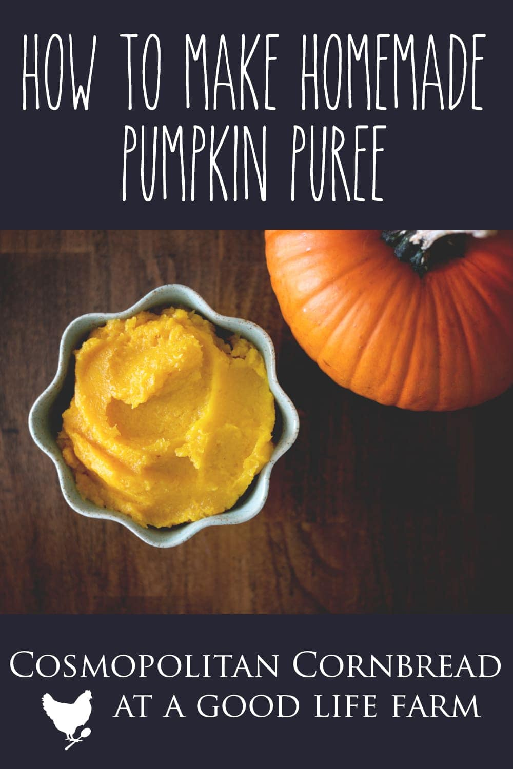 How to Make Homemade Pumpkin Puree - Often people see fresh pie pumpkins at the market and like the idea of using them, but have no idea how. Learn how to make your own homemade pumpkin puree from fresh pumpkins. It's easy!