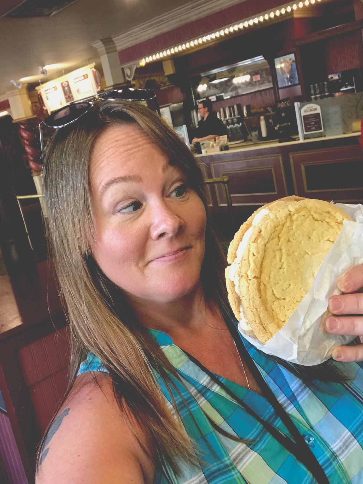 Pumpkin Ice Cream Sandwich at Dollywood