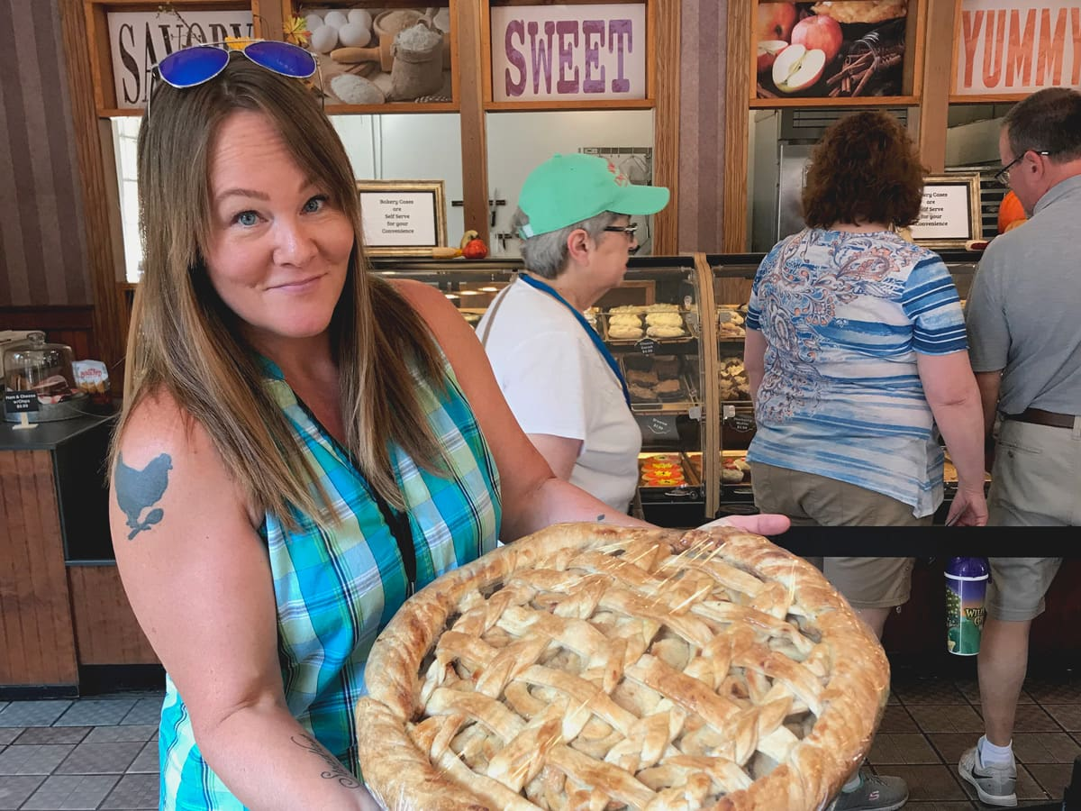 The Giant Apple Pie at The Spotlight Bakery and Sandwich Shop at Dollywood