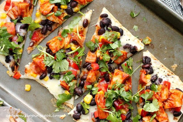 Barbecue Turkey Flatbread Pizza