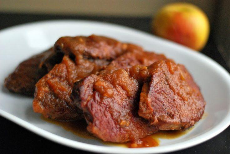 Slow Cooker Apple Butter Pork Chops