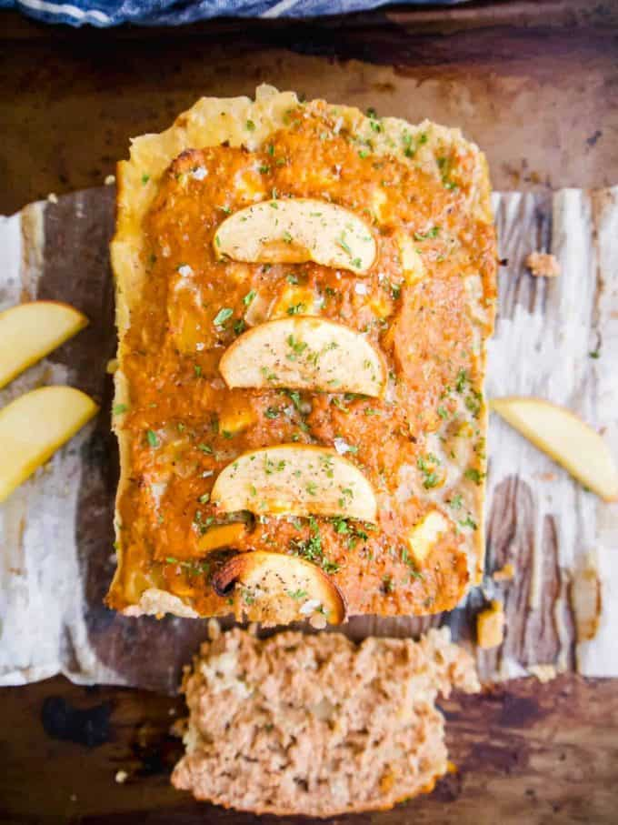 Apple and Sage Turkey Meatloaf (Paleo, Whole30)